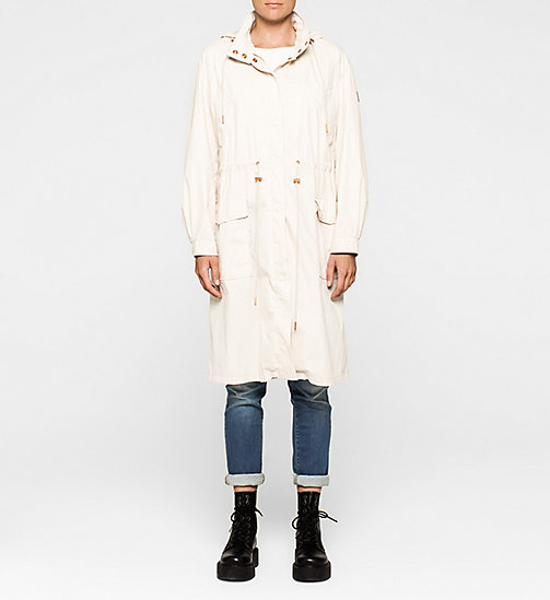 Long Parka Coat - MOONBEAM - CK JEANS OUTERWEAR - main image