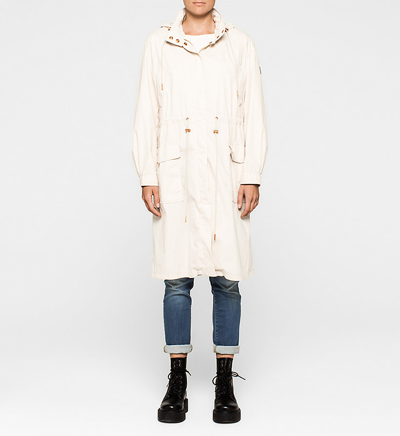 CKJEANS Long Parka Coat - MOONBEAM - CK JEANS OUTERWEAR - main image