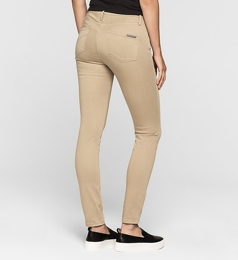 CKJEANS High Rise Sculpted Skinny Trousers - CHINCHILLA - CK JEANS CLOTHES - detail image 1