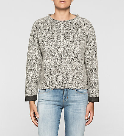 CALVIN KLEIN JEANS Sweat-shirt chiné J20J205009901