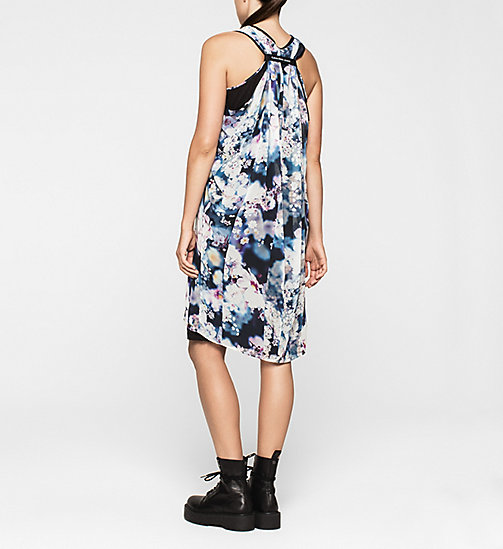 CALVINKLEIN Racer Back Chiffon Dress - IRRIDESCENT FLORAL - CK JEANS DRESSES - detail image 1