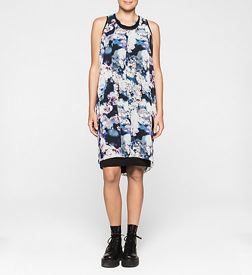 CALVINKLEIN Racer Back Chiffon Dress - IRRIDESCENT FLORAL - CK JEANS DRESSES - main image