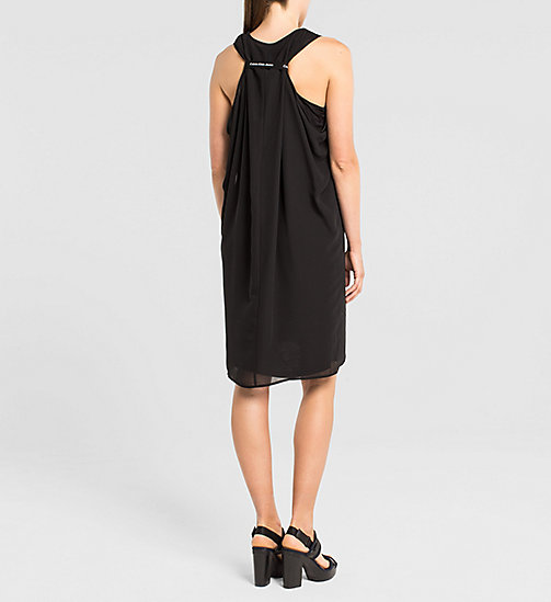 CKJEANS Racer Back Chiffon Dress - TOMMY BLACK - CK JEANS DRESSES - detail image 1