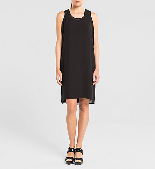 CALVINKLEIN Racer Back Chiffon Dress - TOMMY BLACK - CK JEANS DRESSES - main image