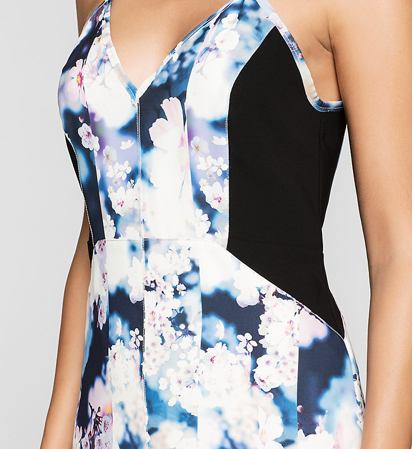 CKJEANS Panelled Crepe Dress - IRRIDESCENT FLORAL - CK JEANS CLOTHES - detail image 2