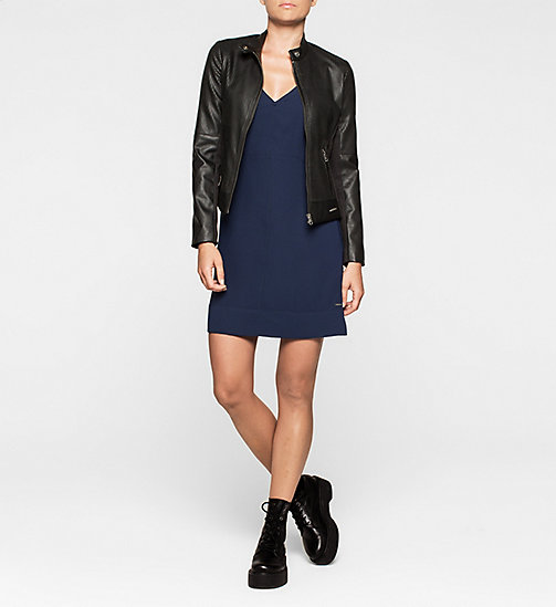 CALVINKLEIN Panelled Crepe Dress - PEACOAT - CK JEANS DRESSES - detail image 1