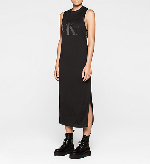 CALVINKLEIN Logo Maxi Dress - CK BLACK - CK JEANS DRESSES - main image