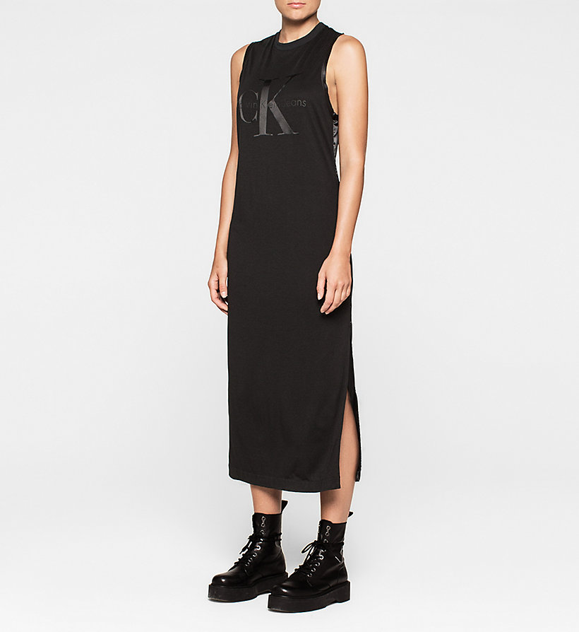 CKJEANS Logo Maxi Dress - CK BLACK - CK JEANS DRESSES - main image
