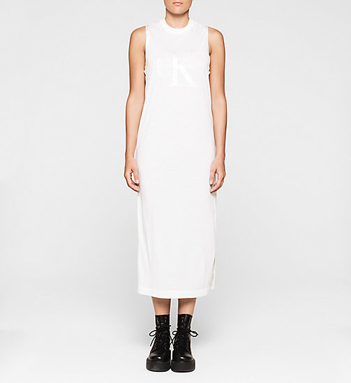 CKJEANS Logo Maxi Dress - BRIGHT WHITE - CK JEANS CHAOS FUSION WOMEN - main image