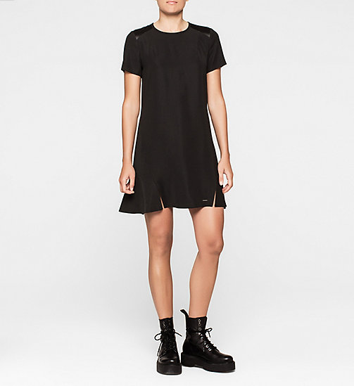 CALVINKLEIN Satin Dress - CK BLACK - CK JEANS DRESSES - main image