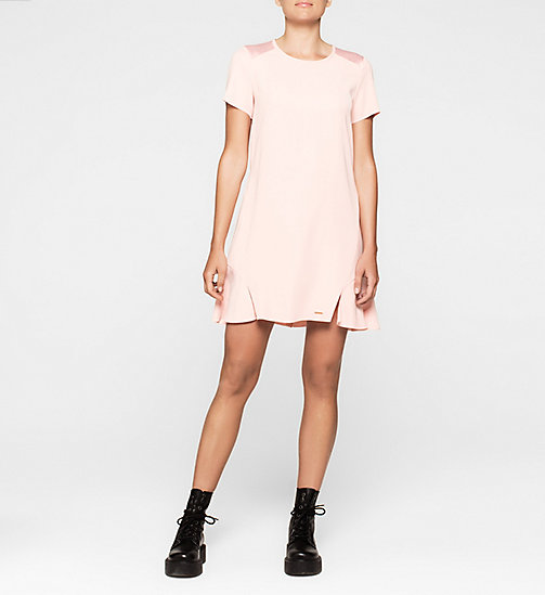CALVINKLEIN Satin Dress - MELLOW ROSE - CK JEANS DRESSES - main image