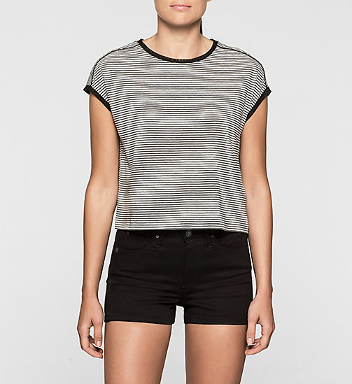 CKJEANS Cropped T-shirt - LIGHT GREY HEATHER / CK BLACK - CK JEANS KLEDING - main image