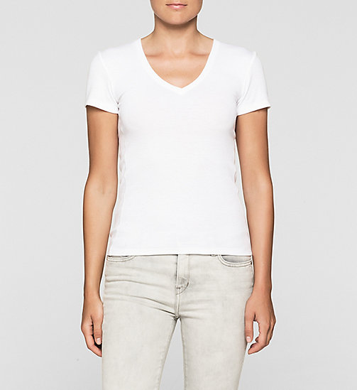 Fitted T-shirt - BRIGHT WHITE - CK JEANS T-SHIRTS - main image