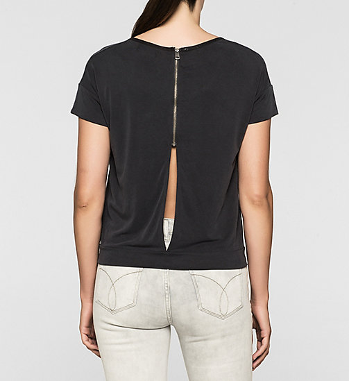 Slit Back T-shirt - CK BLACK - CK JEANS  - detail image 1