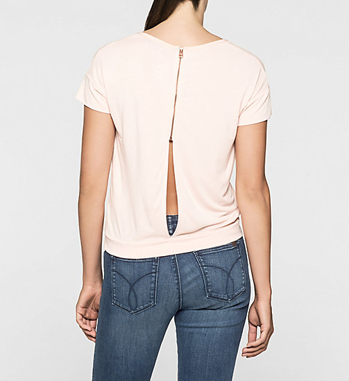 Slit Back T-shirt - PALE DOGWOOD - CK JEANS  - detail image 1