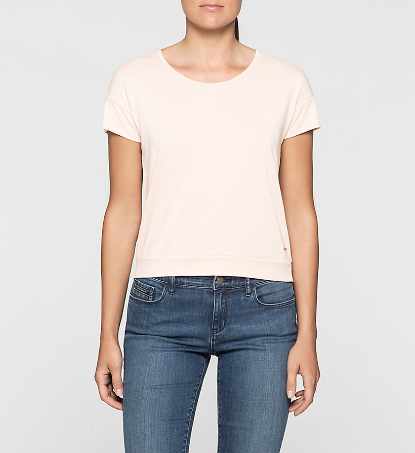 CKJEANS Slit Back T-shirt - PALE DOGWOOD - CK JEANS T-SHIRTS - main image
