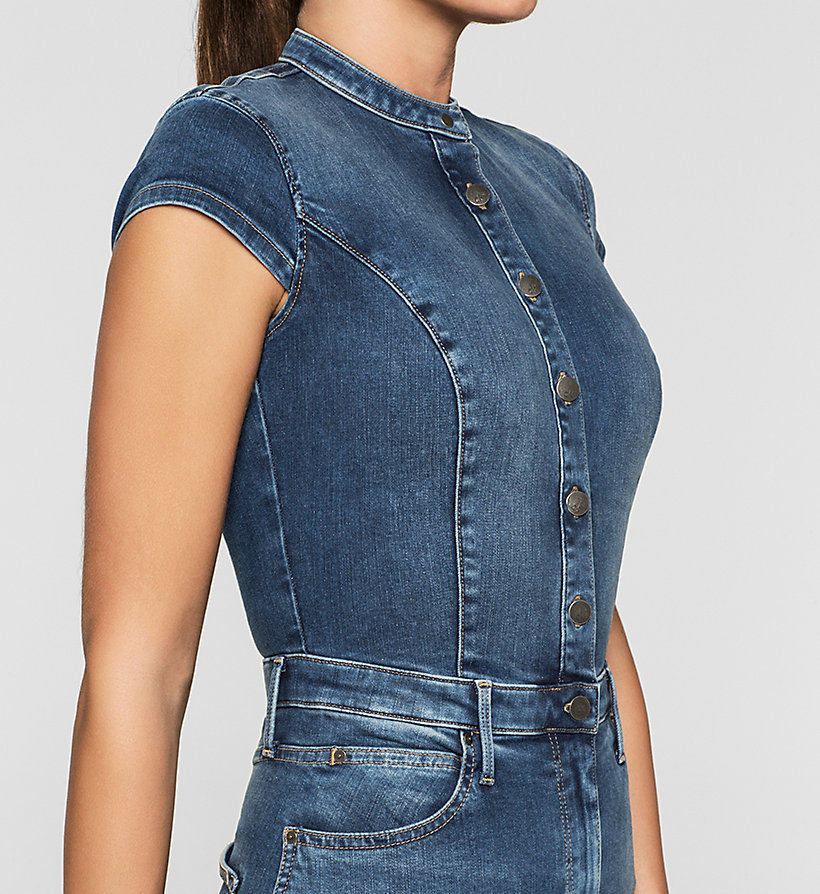 CKJEANS Sculpted Denim Dress - STATIC BLUE - CK JEANS DRESSES - detail image 2