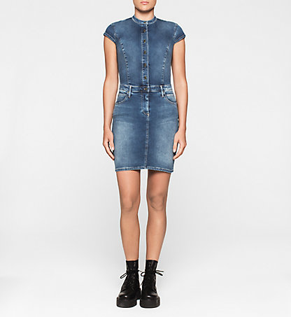 CALVIN KLEIN JEANS Sculpted Denim-Kleid J20J205037914