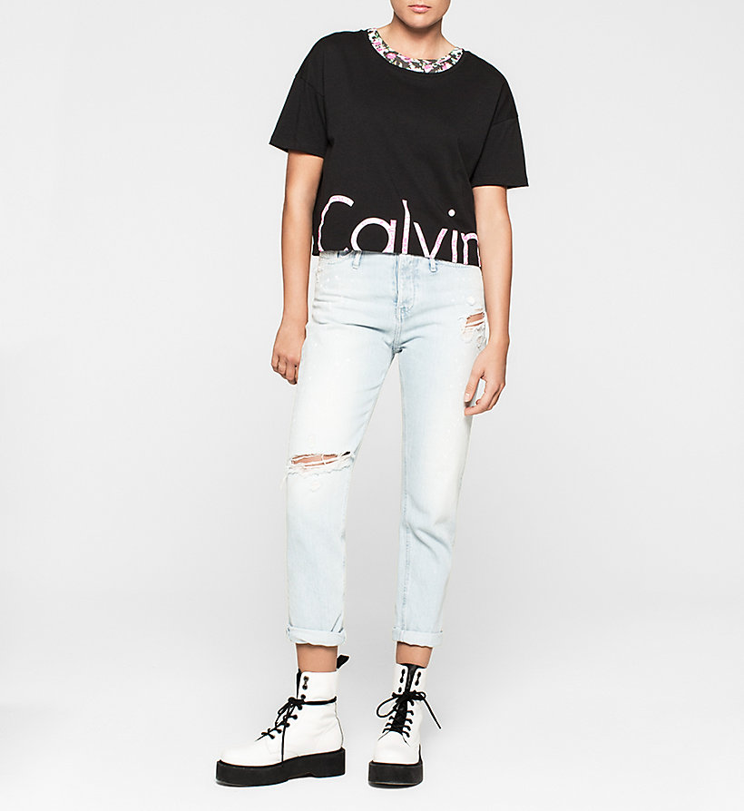 CKJEANS Cropped Logo T-shirt - BRIGHT WHITE - CK JEANS T-SHIRTS - detail image 1