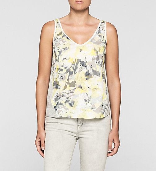 CKJEANS Top in mix di materiali - CAMO FLORAL - CK JEANS CAMICIE - immagine principale