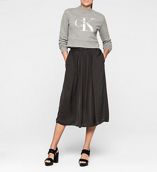 CKJEANS Pleated Satin Skirt - CK BLACK - CK JEANS SKIRTS - detail image 1