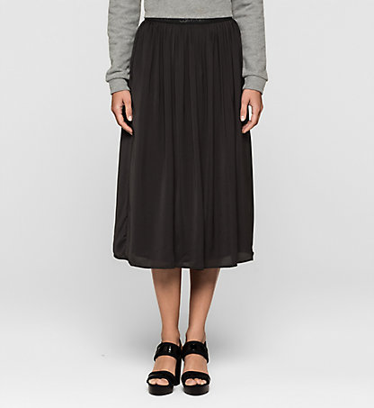 CALVIN KLEIN JEANS Pleated Satin Skirt J20J205083099