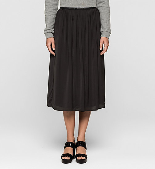 CKJEANS Pleated Satin Skirt - CK BLACK - CK JEANS SKIRTS - main image