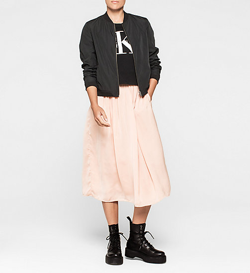 CKJEANS Pleated Satin Skirt - MELLOW ROSE - CK JEANS SKIRTS - detail image 1