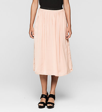 CALVIN KLEIN JEANS Pleated Satin Skirt J20J205083690