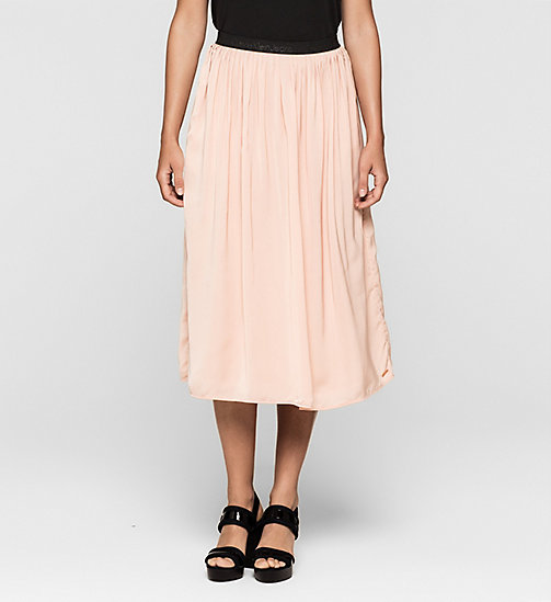 CKJEANS Pleated Satin Skirt - MELLOW ROSE - CK JEANS SKIRTS - main image