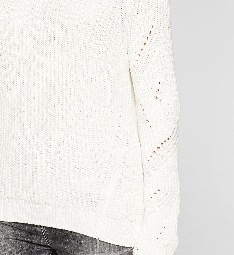 CKJEANS Ribbed Knit Sweater - BRIGHT WHITE - CK JEANS JUMPERS - detail image 2