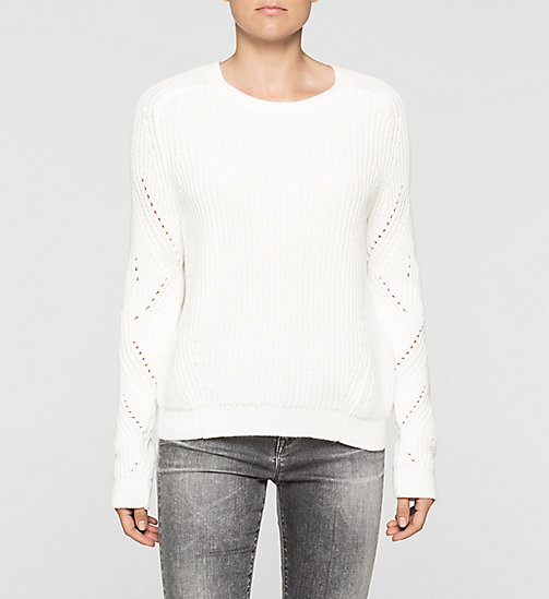 Ribbed Knit Sweater - BRIGHT WHITE - CK JEANS JUMPERS - main image