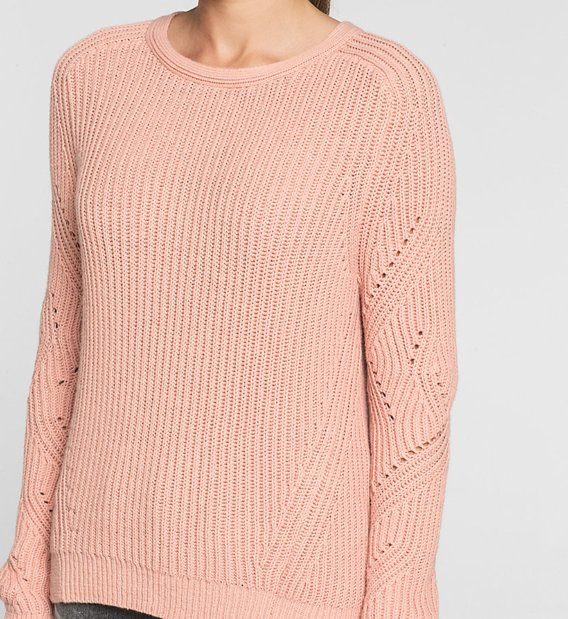 CKJEANS Ribbed Knit Sweater - MELLOW ROSE - CK JEANS JUMPERS - detail image 2