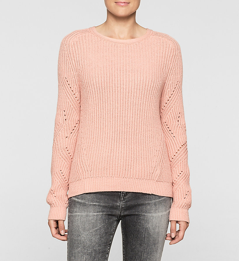 CKJEANS Ribbed Knit Sweater - MELLOW ROSE - CK JEANS JUMPERS - main image