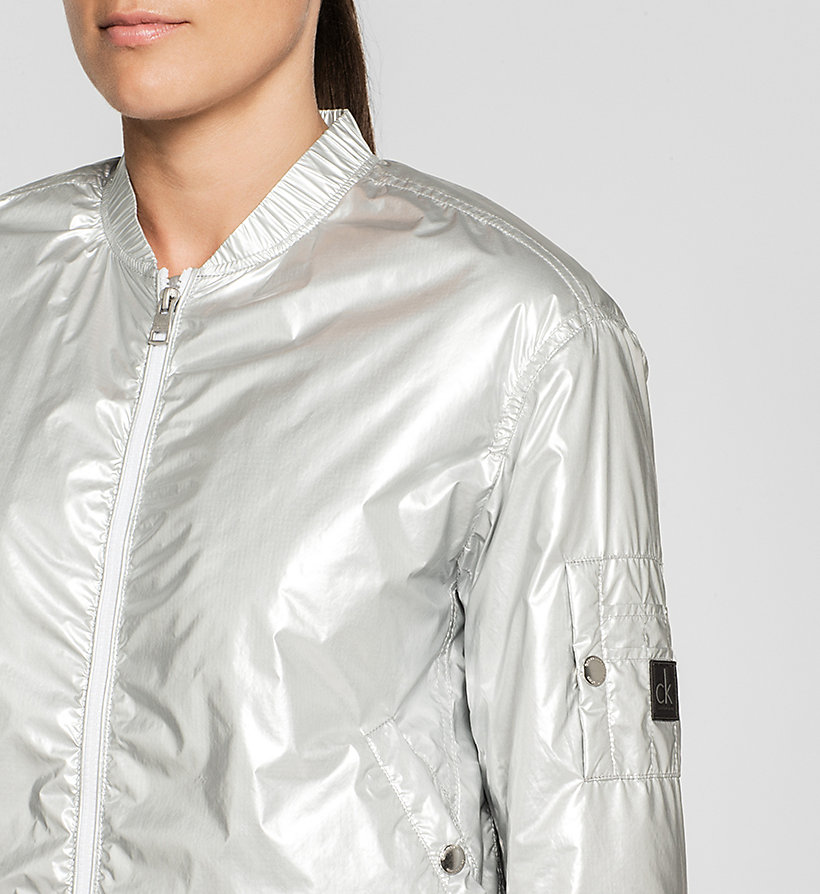 CKJEANS Metallic Bomber Jacket - METALLIC SILVER - CK JEANS CLOTHES - detail image 2