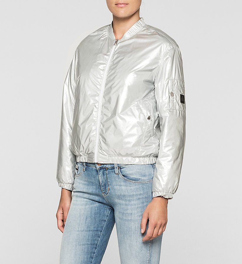 CKJEANS Metallic Bomber Jacket - METALLIC SILVER - CK JEANS CLOTHES - main image