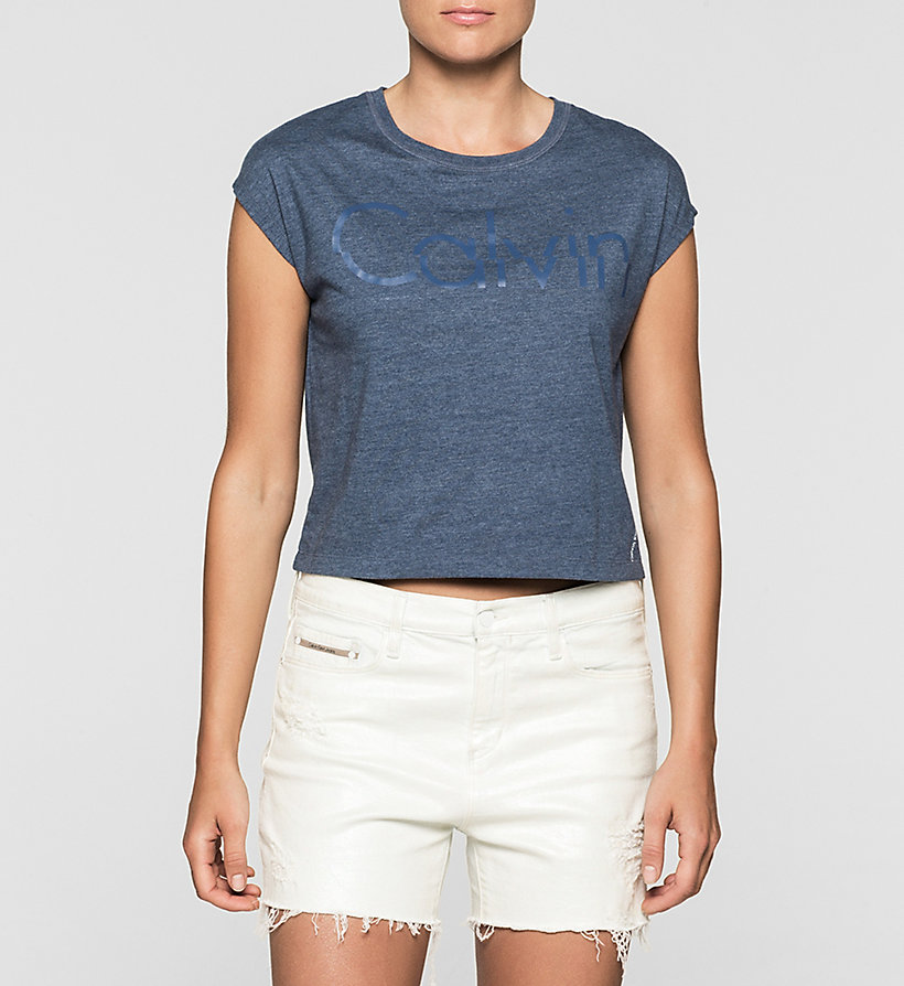 CKJEANS Cropped Logo T-shirt - INDIGO - CK JEANS CLOTHES - main image