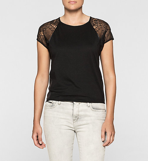 Lace-Trimmed T-shirt - CK BLACK - CK JEANS  - main image