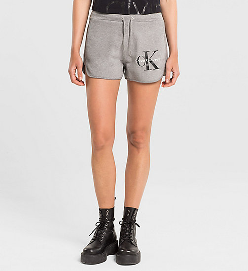Shorts de sudadera con logo - LIGHT GREY HEATHER BC04 - VOL39 - CK JEANS PANTALONES CORTOS - imagen principal