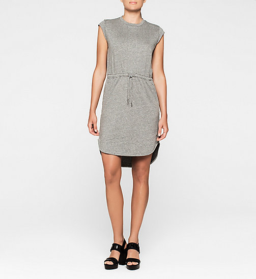 CALVINKLEIN Jersey Dress - LIGHT GREY HEATHER BC04 - VOL39 - CK JEANS DRESSES - main image