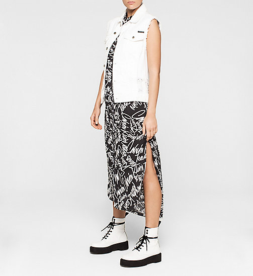 CALVINKLEIN Graffiti Maxi Dress - SCRIBBLE LOGO / CK BLACK - CK JEANS DRESSES - detail image 1
