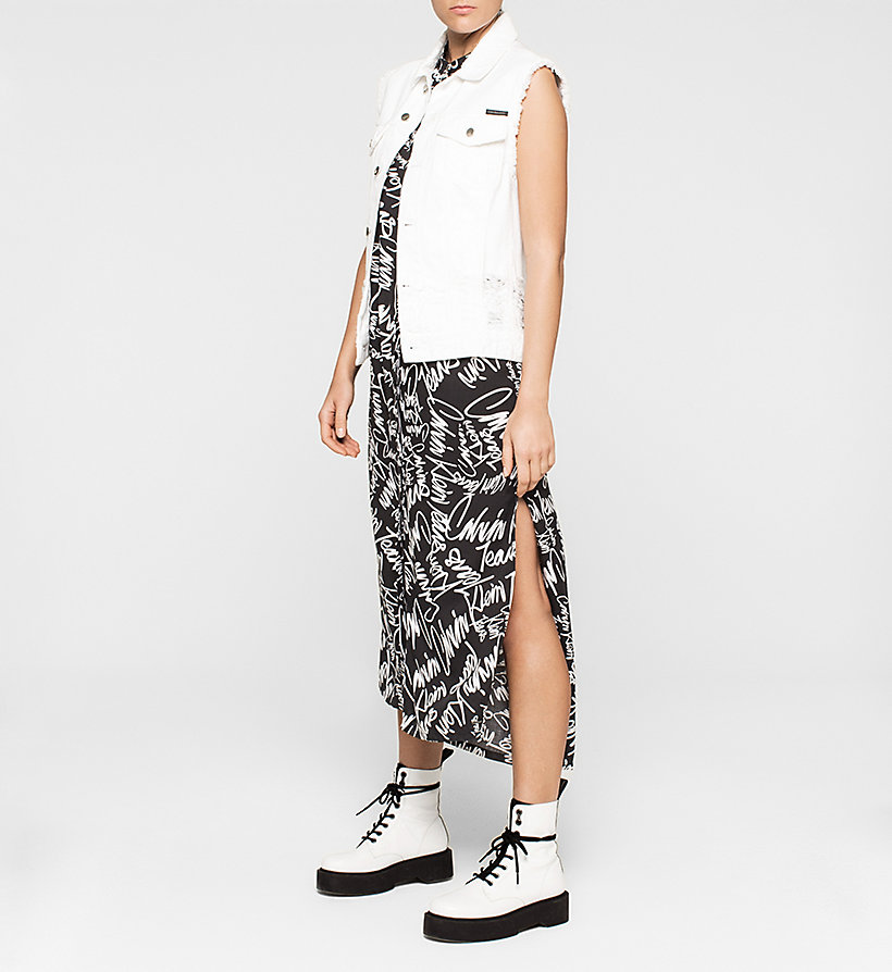 CKJEANS Graffiti Maxi Dress - SCRIBBLE LOGO / CK BLACK - CK JEANS DRESSES - detail image 1