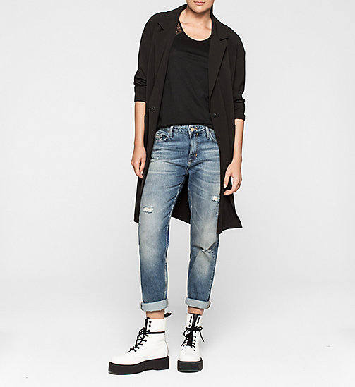 Lace-Trimmed Tank Top - CK BLACK - CK JEANS T-SHIRTS - detail image 1