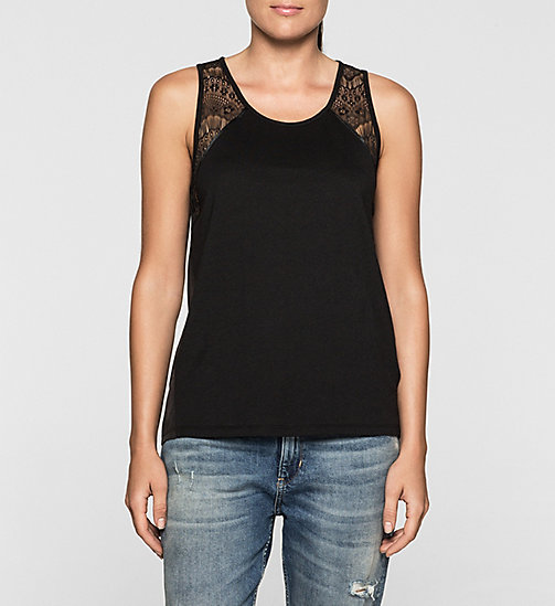 Lace-Trimmed Tank Top - CK BLACK - CK JEANS  - main image