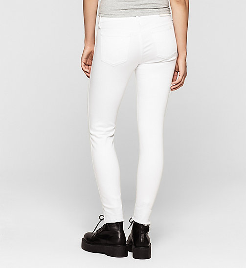 Mid Rise Skinny Twisted Jeans - INFINITE WHITE RELEASED - CK JEANS JEANS - detail image 1