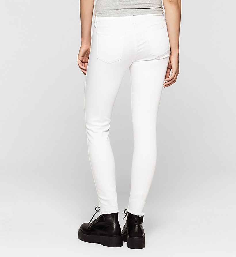 CKJEANS Mid-Rise Skinny-Twisted-Jeans - INFINITE WHITE RELEASED - CK JEANS KLEIDUNG - main image 1