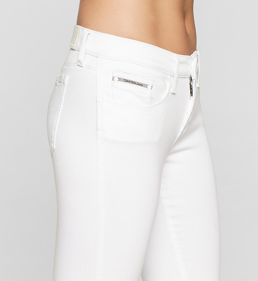 CKJEANS Mid-Rise Skinny-Twisted-Jeans - INFINITE WHITE RELEASED - CK JEANS KLEIDUNG - main image 2
