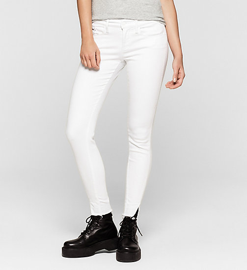 Mid Rise Skinny Twisted Jeans - INFINITE WHITE RELEASED - CK JEANS JEANS - main image