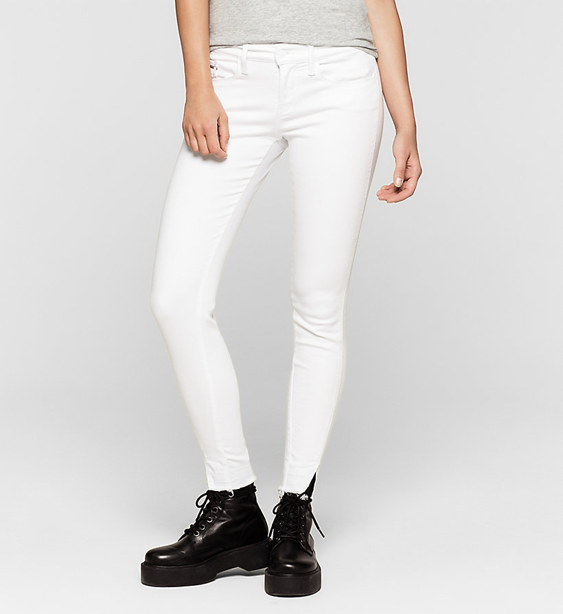 CKJEANS Mid-Rise Skinny-Twisted-Jeans - INFINITE WHITE RELEASED - CK JEANS KLEIDUNG - main image