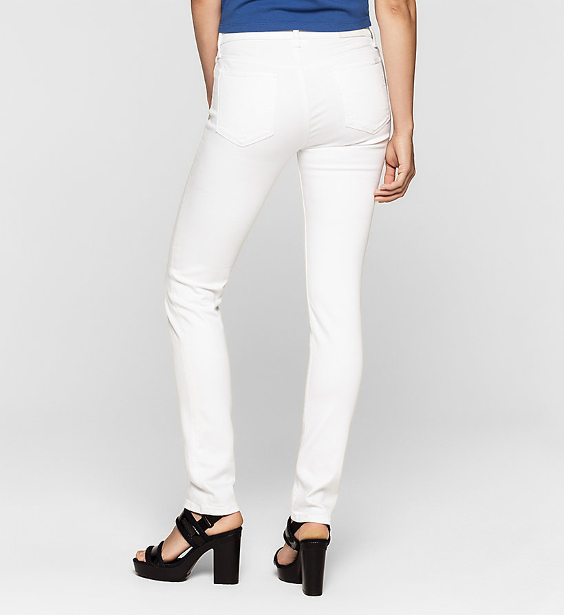 CKJEANS Mid rise slim jeans - INFINITE WHITE STRETCH - CK JEANS JEANS - detail image 1